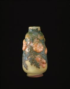 Émile Gallé, Vase with Tomatoes, France, ca. 1890-1904.