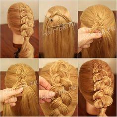Французская коса на выворот