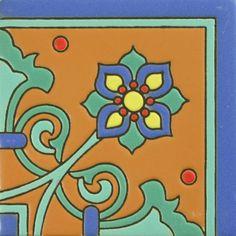 Prima Mexican Tile - Carmen II Corner – Mexican Tile Designs