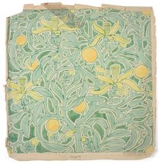 Tennants Auctioneers: Charles Francis Annesley Voysey (1857-1941): Six Watercolour Designs and Working Drawings for Tomkinsons Carpets