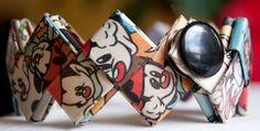 OOAK Animaniacs Wakko cuff bracelet by FantasticFoldsShop on Etsy, $23.00