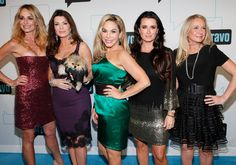 (L-R) TV personalities Taylor Armstrong, Lisa Vanderpump, Adrienne Maloof, Kyle Richards and Kim Richards of Real Housewives of Beverly Hills attend the Bravo Upfront 2012 at Center 548