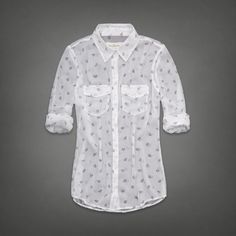 Chiffon Button Up Shirt | Abercrombie.com | Check out our Pin To Win Challenge at http://on.fb.me/UfLuQd