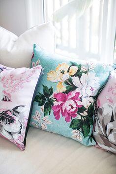 custom made floral throw pillows by shutterfly / sfgirlbybay