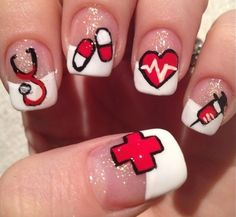 Your patients and your Docs too are certainly going to notice and comment if you have these fancy nails at work :)