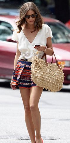 Zig zag print is going to be big this summer. Loving Oliva Palermo's style
