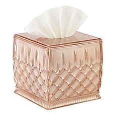 image of Waterford® Lismore Boutique Tissue Box Cover