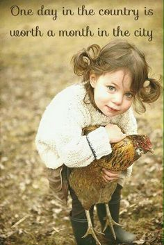 What a Little Doll ♡The country life. My kids do this with our chickens, sooo cute. Little People, Little Ones, Little Girls, Little Doll, Jolie Photo, Baby Kind, Beautiful Children, Animals For Kids, Kind Mode