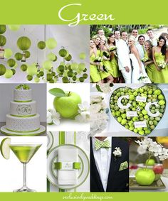 Green Wedding Color - Read more at http://blog.exclusivelyweddings.com/2014/02/15/the-10-all-time-most-popular-wedding-colors/