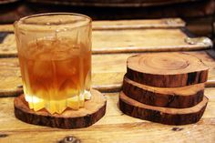 man cave decor   ... Log Slices Candle Holders Center Pieces Rustic Weddings Man Cave Decor