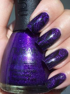Nubar Violet Sparkle & Konad | The Hungry Asian