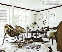 {fur n ease} lots of light with inviting textures. from vogue living nov/dec 2012, photograph by mark seelen.