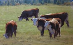 Green Pastures by Kathleen Dunphy Oil ~ 20 x 30