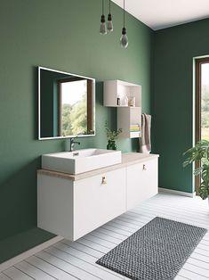 love this wall color! Bathroom Ideas Uk, Bathroom Inspo, Bathroom Colors, Bathroom Styling, Bathroom Inspiration, Bathroom Interior, Basement Inspiration, Bad Inspiration, Bad Styling