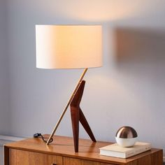 West Elm offers modern furniture and home decor featuring inspiring designs and colors. Create a stylish space with home accessories from West Elm. West Elm, Table Lamp Wood, Table Lamps, Diy Lamps, Best Desk Lamp, Bright Homes, Bedroom Lamps, Bedroom Ideas, Master Bedroom