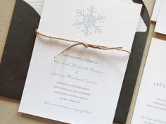Snowflake Wedding Invitations / Christmas Party Invitations / Rustic / Winter Wedding Invitations / Holiday Party / DIY / Printable on Etsy, £31.91