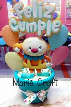 Centro de mesa Cardboard Crafts, Foam Crafts, Diy And Crafts, Balloon Flowers, Baby Shower Diapers, Ideas Para Fiestas, Pasta Flexible, Baby Gifts, Balloons