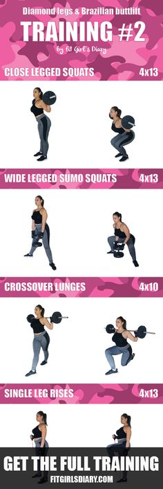 5 Training Sessions, 30 Lower Body Exercises - Get Diamond Legs and Brazilian Butt Lift Workout