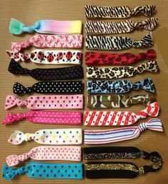 $2.00 Printed Elastic Hair Ties (and bracelets)