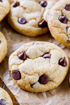 Chocolate Chip Cookies | Sally's Baking Addiction - FREEZE SOLID, bake @ 350 for 16 min, 30 sec
