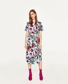 f15e8ebb ZARA - MUJER - TÚNICA CAMISERA VICHY ESTAMPADO FLORAL Zara Dresses, Midi  Dresses, Curvy