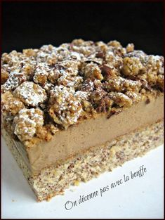 Hazelnut coffee desserts - We don't mess around with the food - Entremets - Coffee Recipes Easy Chocolate Desserts, No Cook Desserts, Dessert Recipes, Coffee Dessert, Dessert Bread, Chocolate Mousse Cheesecake, Toffee Cheesecake, Coffee Drink Recipes, Easy Summer Desserts