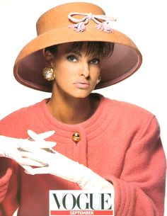 5196b3d208a4b A vintage Eric Javits hat featured in the 1989 September issue of Italian  Vogue.