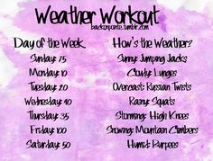 Weather Workout
