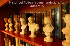 Historical fiction recommendations for ages 9-18 via simplehomeschool.net
