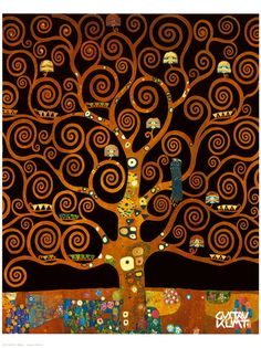 Under the Tree of Life Reproduction procédé giclée Premium by Gustav Klimt - AllPosters.ca
