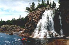 Cascade Falls near Otter Island, Pukaskwa National Park, Lake Superior