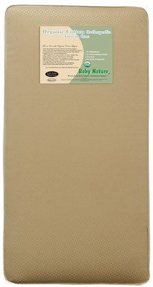 L.A. Baby Organic Cotton 2-in-1 Orthopedic Mattress   #DiaperscomNursery.