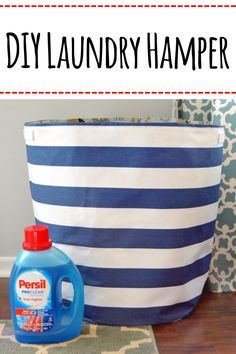 Follow this easy tutorial to make your own DIY Laundry Hamper and learn more about Persil Deep Clean Days at Walmart. #PersilDeepClean #diylaundryhamper #AD
