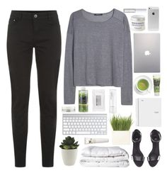 """""""find me the girl who electrified the storm"""" by acquiescence ❤ liked on Polyvore featuring MANGO, H&M, Linea, Korres, Stila, Brinkhaus, Origins, Samsung, L'Occitane and Chanel"""