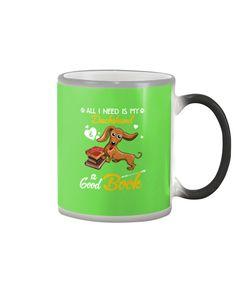 All I Need Is My Dachshund Dog A Good Book Mugs - Kiwi weiner dog puppies dachshund, dapple dachshund puppy miniatures, dachshund diy #puppies #doglover #petsmart, dried orange slices, yule decorations, scandinavian christmas Dachshund Mix Puppies, Dapple Dachshund Puppy, Dachshund Quotes, Dachshund Shirt, Dogs And Puppies, Yule Decorations, Orange Slices, Scandinavian Christmas, Girls Best Friend