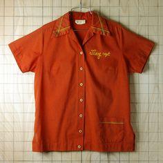 Vintage Bowling Shirts, Vintage Tee Shirts, Vintage Tops, Rockabilly Fashion, Punk Fashion, Lolita Fashion, Fashion Boots, Work Shirts, Printed Shirts