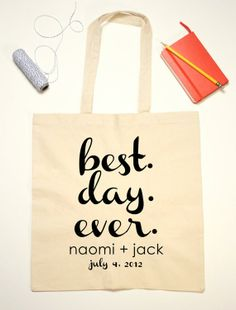 Wedding favors, tote bags