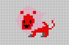 Steven Universe Lion Pixel Art from BrikBook.com #StevenUniverse #Lion #pink…