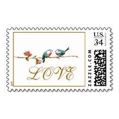 Vintage Birds Love Postage Stamps http://www.zazzle.com/vintage_birds_love_postage_stamps-172974846966935251?denomination=34&rf=238194283948490074&tc=pfz #wedding #love #lovebirds #elegant #painting #floral #botanical #vintage #postagestamps #zazzle