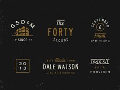Founders' Day Elements #logo #design #inspiration