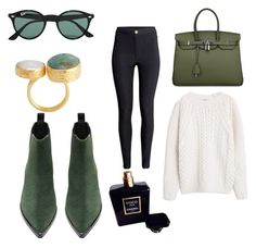 """""""Untitled #337"""" by giselaturca on Polyvore featuring Acne Studios, H&M, MANGO, Ray-Ban, Chanel, women's clothing, women, female, woman and misses"""