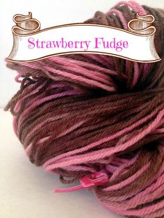 Pink and Brown Hand Dyed Yarn 100 Peruvian by LoveKnitCozy on Etsy, $20.00