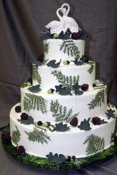 nature wedding cakes | Nature-themed wedding cake. (By Konditor Meister Elegant Wedding Cakes ...