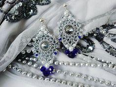Check out this item in my Etsy shop https://www.etsy.com/listing/595586076/swarowski-silver-wedding-earringsbig