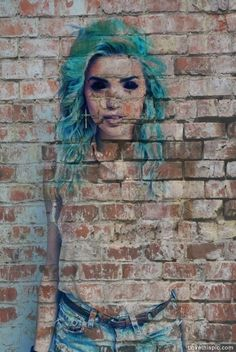 street girl photography girl art cool graffiti weird bricks