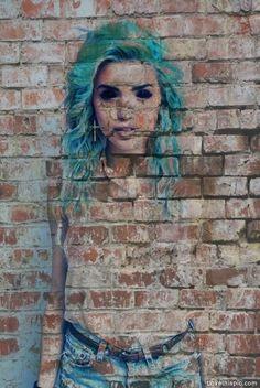 street girl photography girl art cool graffiti weird bricks
