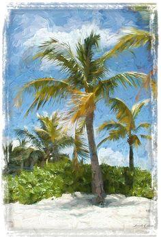 Palms And Beach Digital Art Tropical Decor, Renaissance Art, Olsen, Palms, Art Blog, Palm Trees, Original Paintings, Digital Art, Wall Art