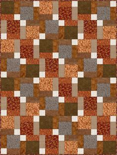Dreaming Autumn Pre-Cut Quilt Kit Blocks 39x52 from Quilt Kit Shop - The Quilt Kit Shop for quilt kits pre-cut