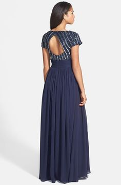 JS Collections Embellished Chiffon Empire Gown | Nordstrom
