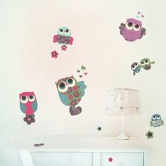 Owls | S - ゆかいなフクロウたちのデカールステッカー by chocovenyl